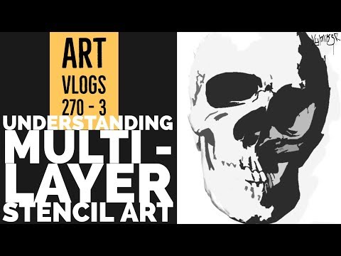 Multi Layer Skull  Stencil