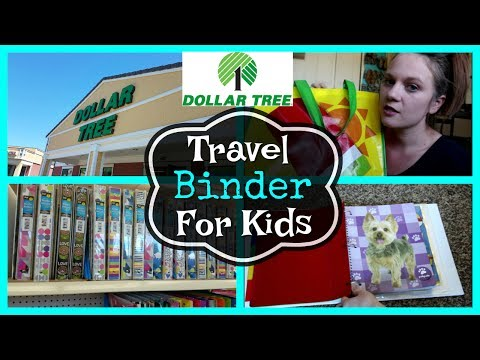 DIY DOLLAR TREE TRAVEL BINDER | FOR KIDS | Dollar Tree Haul