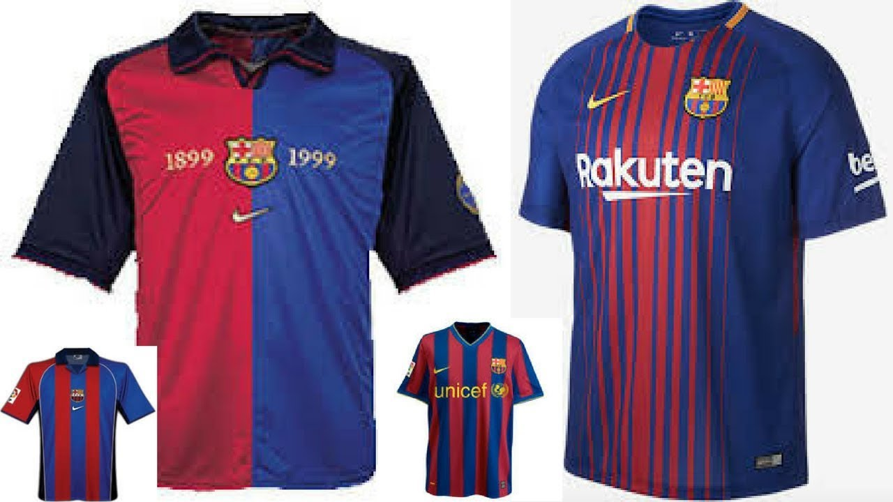new product 273b3 3921d FC BARCELONA FOOTBALL SHIRTS HISTORY (1999 - 2018)