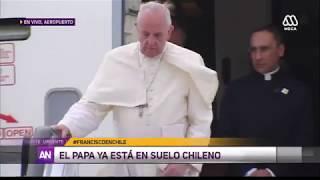 Así fue la llegada del Papa Francisco a Chile