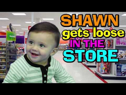BABY SHAWN GOES SHOPPING @ TARGET 😃 (FUNnel Vision Baby Silly Vlog)