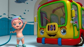 The Wheels On The Bus - Pretend Play in Baby's House | Rhymes for Babies | Infobells