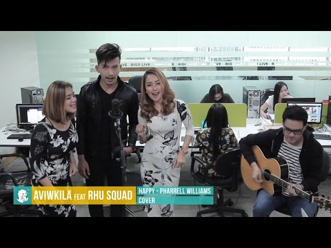 Happy - Pharrell Williams ( Rhu Squad ft. Aviwkila Cover) | BIGO LIVE Indonesia