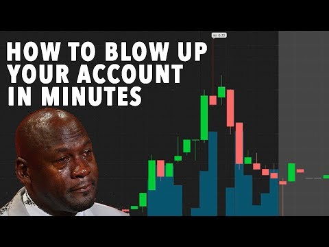 How To Blow Up Your Day Trading Account 60% LOSS IN MINUTES!