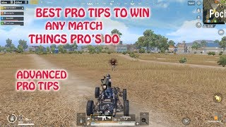 PUBG MOBILE TOP 4 BEST PRO TIPS TO WIN ANY MATCH, THINGS PRO PLAYERS DO