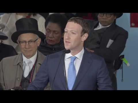 Facebook Founder Mark Zuckerberg's 2017 Commencement Speech(part) At Harvard University