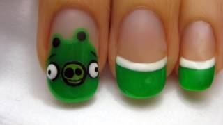 Angry Birds: Pigs Nail Art