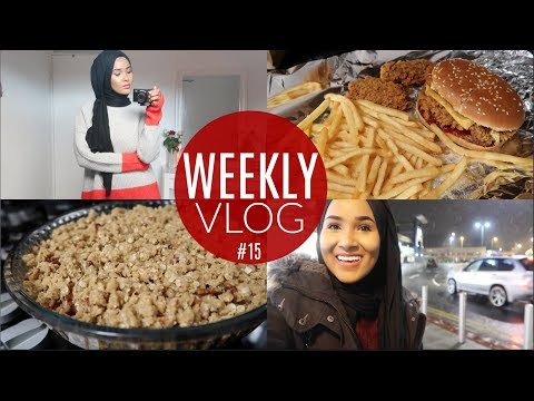 WEEKLY VLOG: Come Shopping With Me, Making Apple Crumble, Lidl Haul& It's Snowing!! |Zeinah Nur