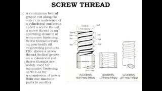 CBSE Class XII   Engineering Graphics  Screw Thread Profile