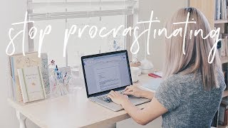 How to Stop Procrastinating & Get Work Done | Productivity Tips & Hacks
