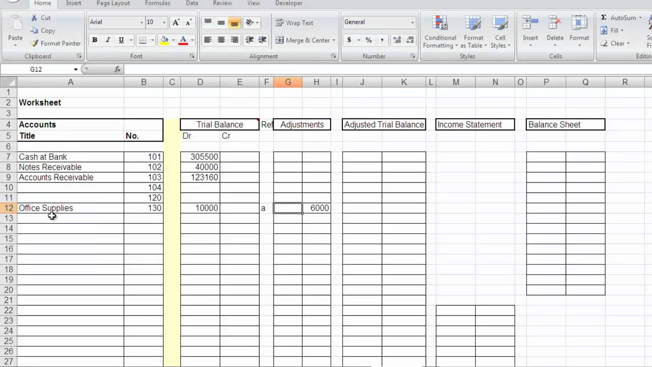 Accounting Worksheet.mp4 - YouTube