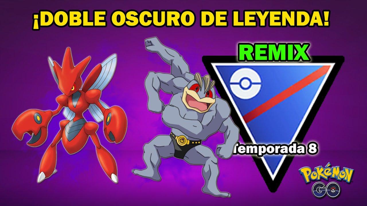 SCIZOR OSCURO y MACHAMP OSCURO ARRASAN en COPA SUPER REMIX (1500) GO BATTLE LEAGUE - PvP POKEMON GO
