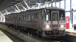 【4K】JR高山本線 回送列車キハ120形気動車 キハ120-22+キハ120-348 富山駅発車