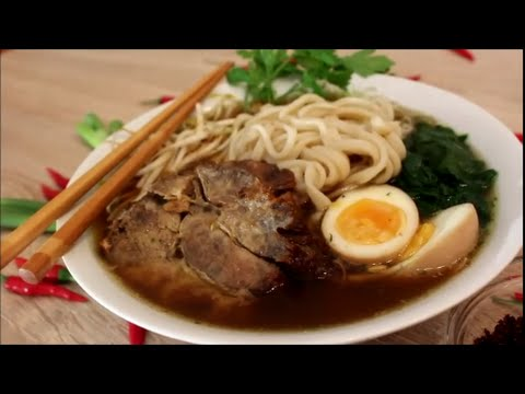 Japanische Ramen Suppe Yakibuta / Japanese Ramen soup with Roasted Pork