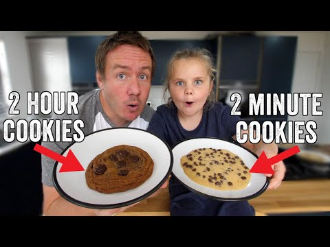 2 Minute Vs 2 Hour Chocolate Chip Cookies