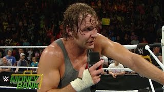 An emotional Dean Ambrose sounds off at Money in The Bank: WWE.com Exclusive, June 14, 2015