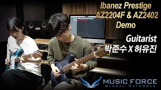 [MusicForce] Ibanez Prestige AZ2204F & AZ2402 Demo - Polyphia 'Crush' by Guitarist '박준수 X 허유진'