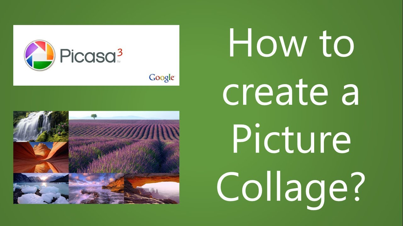How to make picture collages with picasa easy hd tutorial youtube.