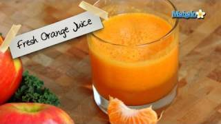 How To Make Fresh Orange Juice