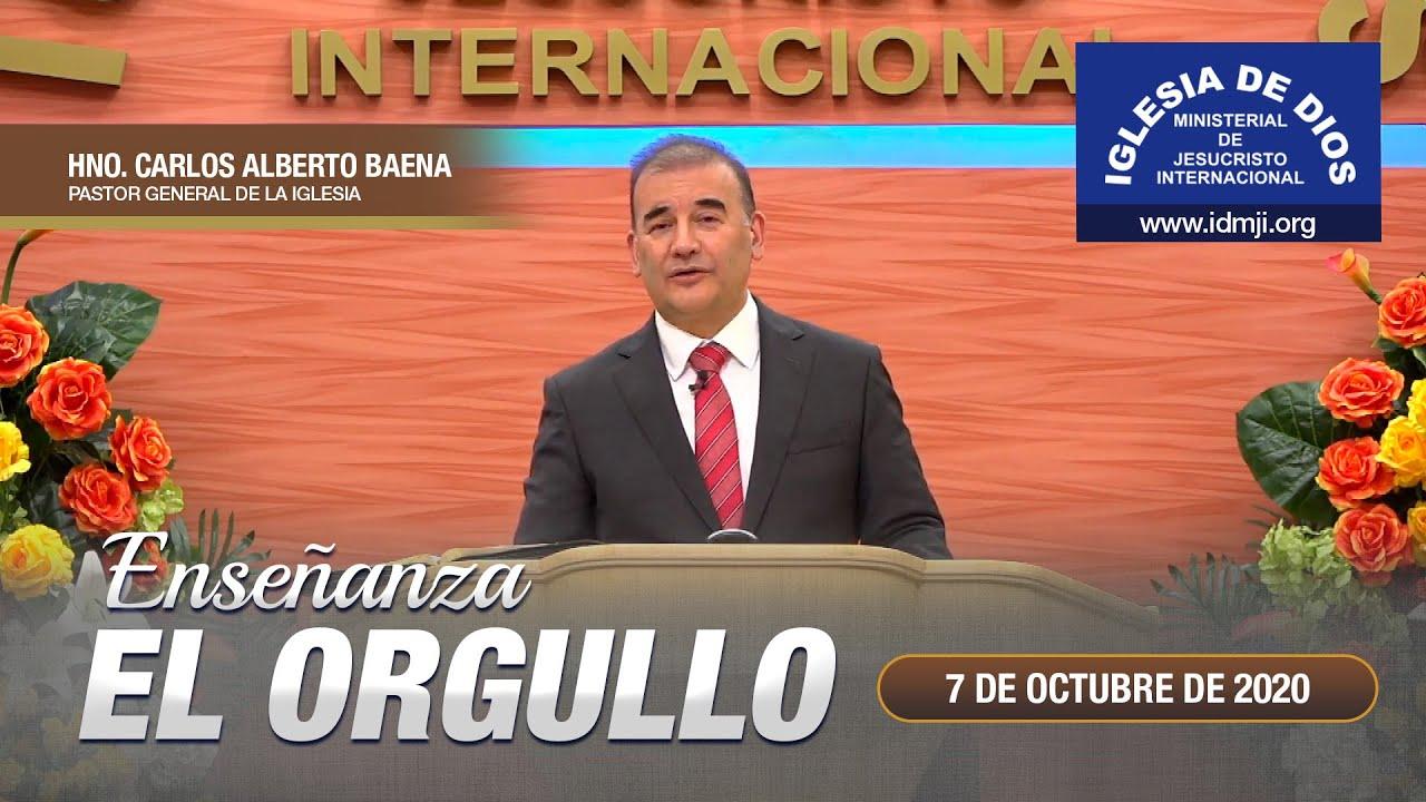 Enseñanza: El orgullo, 7 de octubre de 2020, Hno. Carlos Alberto Baena - IDMJI
