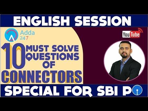 English - 10 Must Solve Questions of Connectors