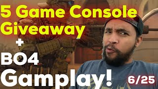 PS4 - Black Ops 4 Gameplay & 5 Console Giveaway! 6/25