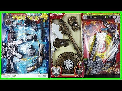 Diriliş Oyuncak Balta Kılıç Kalkan Seti - Avcı Oku Seti - Polis Seti -Sam's Toys