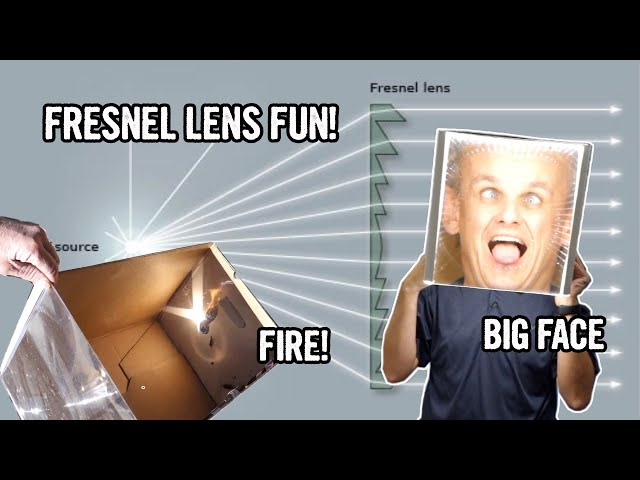 Make your face bigger! A whimsical optical hack by Yuji Hayashi and Augustin Fresnel.