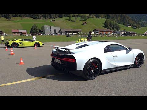 Bugatti Chiron Sport vs Lamborghini Aventador SVJ Roadster