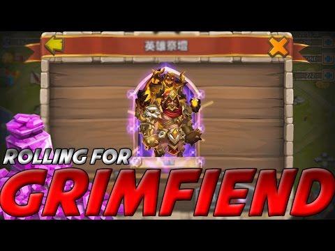 Castle Clash Rolling For Grimfiend