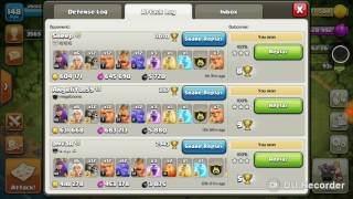 Clash of clans giant healer townhall 10 100% loot attack