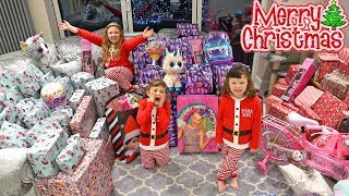 OPENING CHRISTMAS PRESENTS 2018 with Fun Family Three! Christmas Morning SPECIAL!!!
