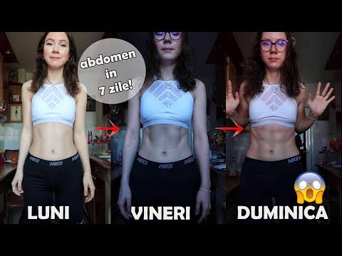 ABDOMEN PLAT IN 7 MINUTE PE ZI ! / EXERCITII ACASA/ 7 Min Abs Workout [HD] from YouTube · Duration:  7 minutes 37 seconds