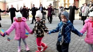 Copiii de la Gradinita 8 au jucat Hora Unirii la Alba Iulia