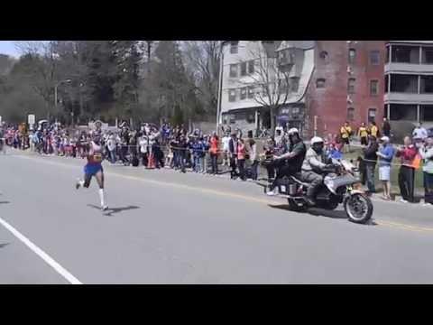 Meb Keflezighi at Boston College - 2014 Boston Marathon winner
