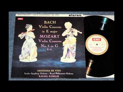 BACH - Violin Concerto in E Major BWV 1042 / Gioconda de Vito - violin