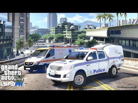 GTA 5 MOD LSPDFR 654 - AUSTRALIA PATROL !! (GTA 5 REAL LIFE PC MOD)