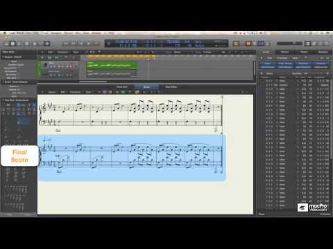 Logic Pro X 109: Core Training  The Score Editor  - 15. Piano 13  The Voice Separation Tool