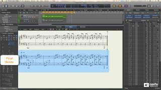 Logic Pro X 109: Core Training  The Score Editor  - 15. Piano 13  The Voice Separation Tool