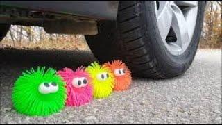 Crushing Crunchy & Soft Things by Car! EXPERIMENT CAR vs Emoji Smiley Balls