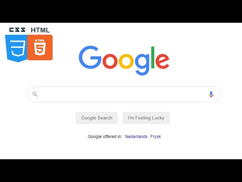 How To Make Google Home Page Using HTML And CSS