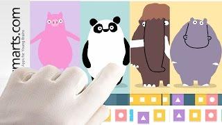 Funny cartoon animals dance in Loopimal - kids game video