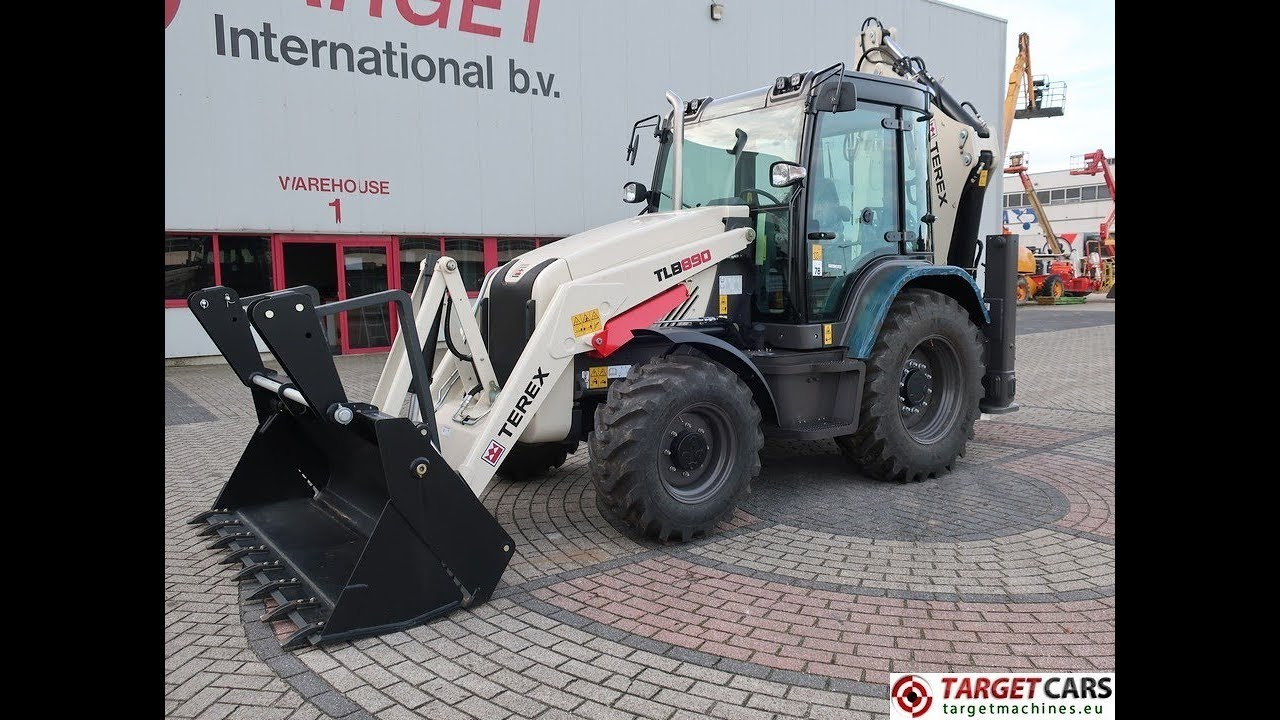 777440 TEREX MECALAC TLB890PS BACKHOE 4x4 LOADER TELESCOPIC 4-IN-1 BUCKET  2018 6HRS NEW