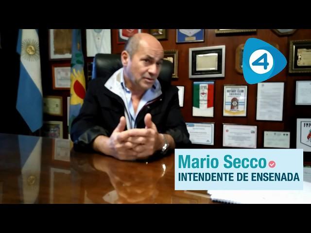 Entrevista: primera entrega de la nota a Mario Secco, intendente de Ensenada