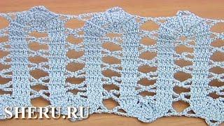Crochet Bruges Trim Tutorial 18 Обвязка в технике брюггского кружева
