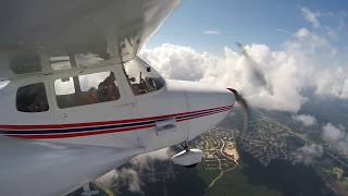 Cloud Hopping With the Kids in Cessna 172 GoPro Wing Camera Full Length