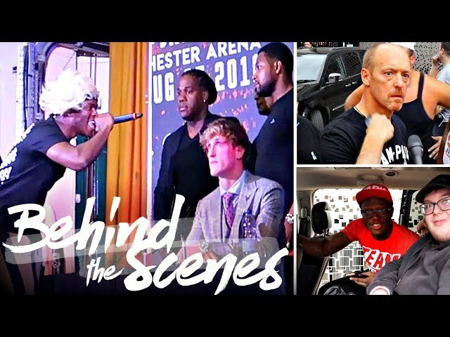 KSI VS LOGAN PAUL PRESS CONFERENCE (UK) Behind The Scenes!