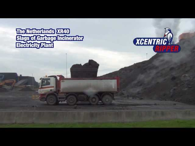 Netherlands XR40 Slags of Garbage Incinerator  Xcentric Ripper - Hydraulic Breaker or Hammer