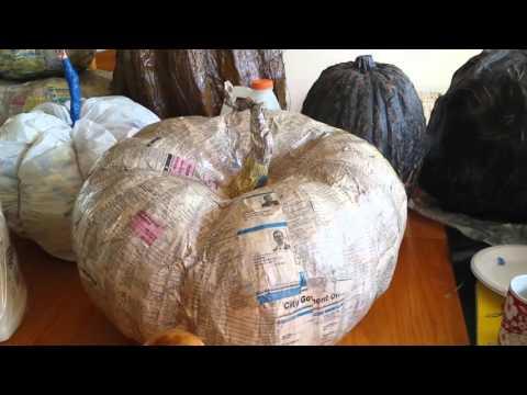 Halloween 2016 paper mache Jack O'Lantern