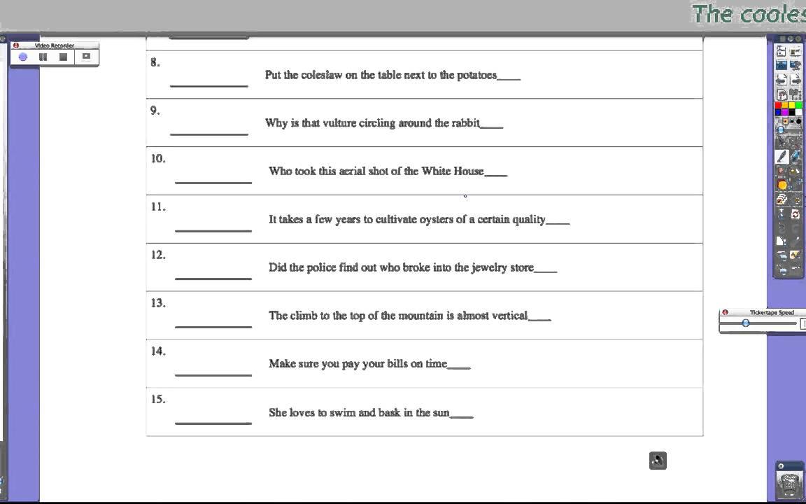medium resolution of Types Of Sentences (video lessons
